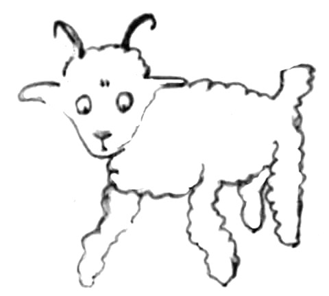 Little-prince-draws-a-sheep-coloring-page