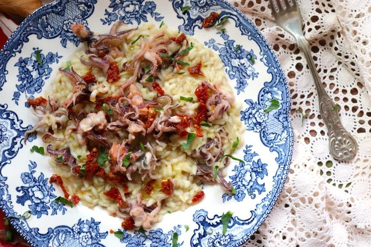 risotto-topinambur-e-moscardini-con-coratina